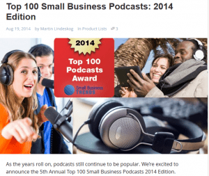 Top 100 small Business Podcasts