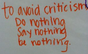 Fear of Criticism